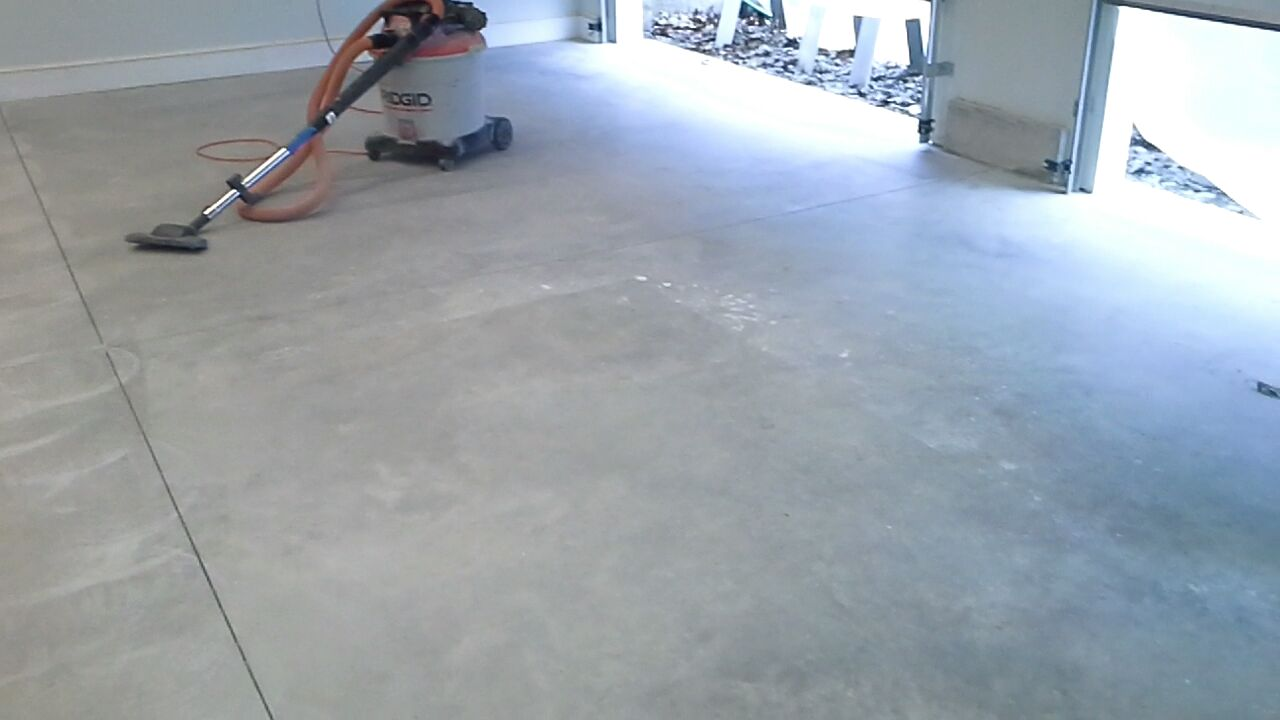 prep for epoxy floor in Boothbay, Me.