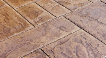 stamped concrete ashlar slate pattern