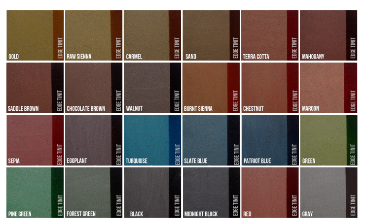 concrete floor stain color chart