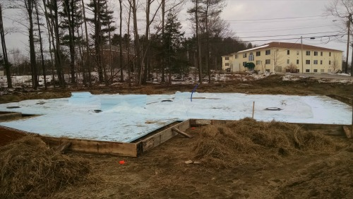 Augusta Maine concrete slab