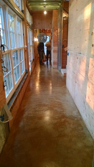 concrete floor staining in Bar Harbor, Me.