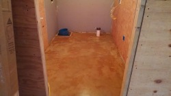 concrete floor staining in Bar Harbor, Me
