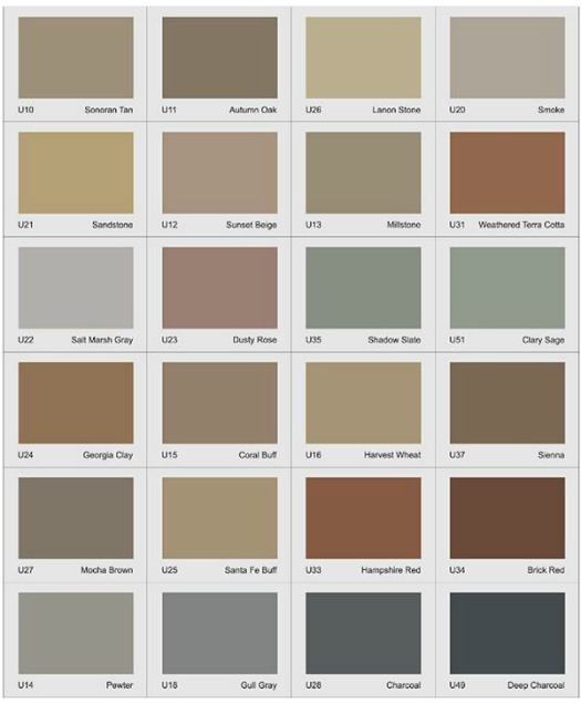 Concrete Solutions Color Chart