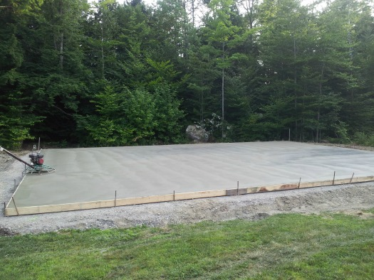 Concrete Basketball Court In Maine