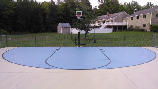 Concrete basketball court in maine for How much does a half court basketball court cost