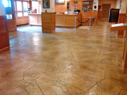 Concrete Overlay Flooring : Concrete overlay and resurfacing installed by day s