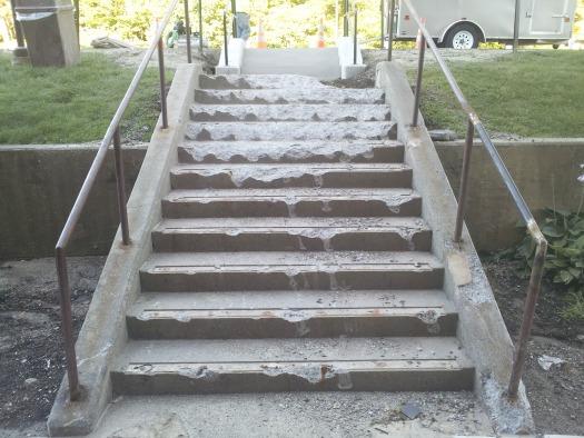 how to patch concrete porch steps