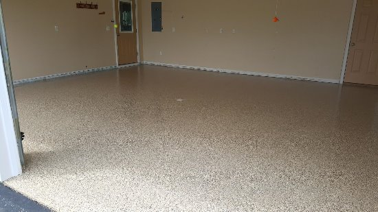 Epoxy floor in Oakland, Me