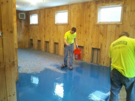 Maine concrete epoxy floor paint