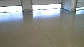 After picture of epoxy chip floor