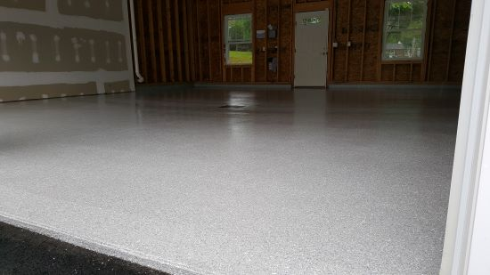 Epoxy floor installation in Lewiston, Me