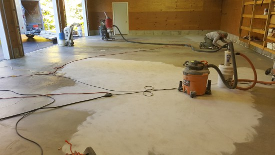 Epoxy floor in Lisbon, Me.