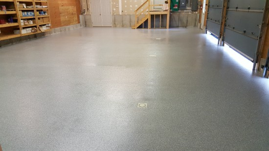 Garage epoxy floor in Lisbon, Me.