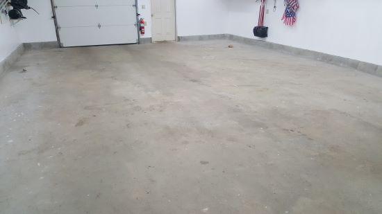 Garage epoxy flooring in Scarborough, Me