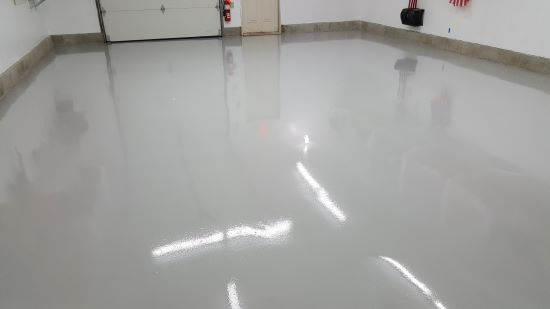 Epoxy floor in Scarborough, Me