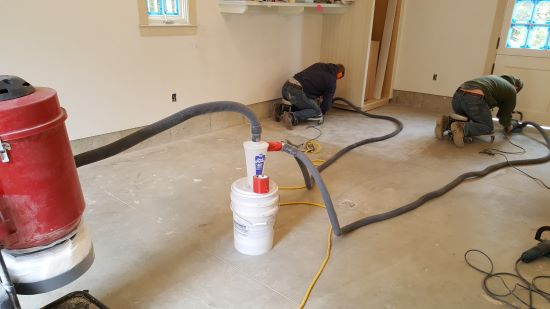 Epoxy floor in Topsham Maine