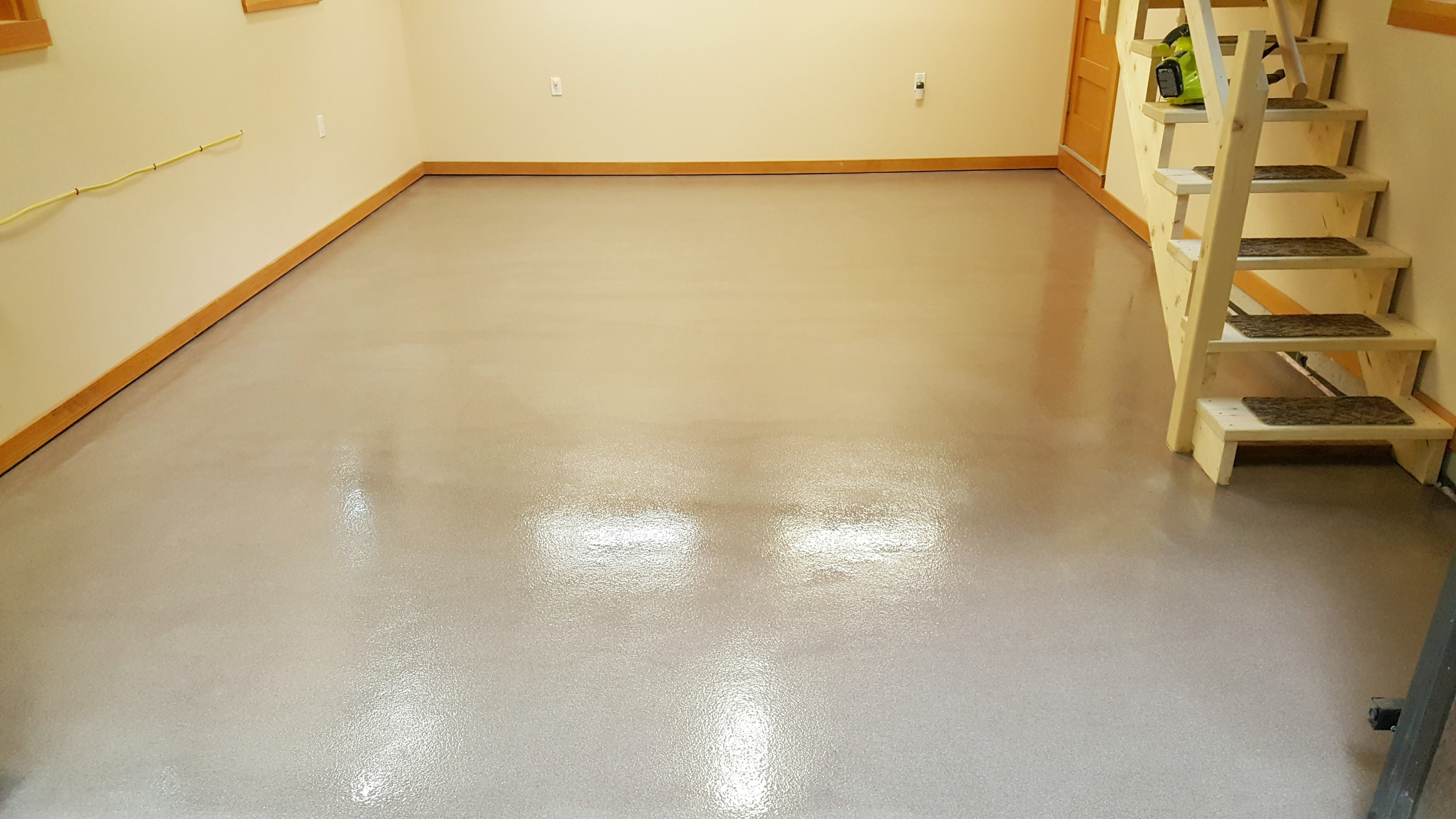 Epoxy floor in Winthrop, Me.