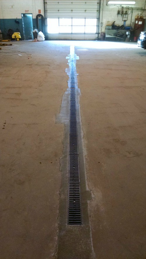 Trench Drain Installation In Brunswick Me By Day S