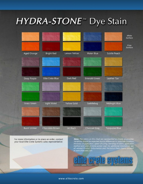 Concrete stain color chart