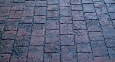 stamped concrete roman cobble pattern