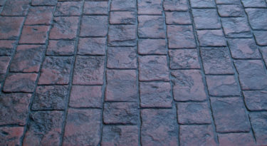 stamped concrete roman cobble pattern