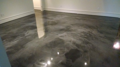Reflector enhancer epoxy floor in Falmouth, Me.