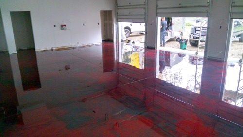 Reflector enhancer epoxy floor coating