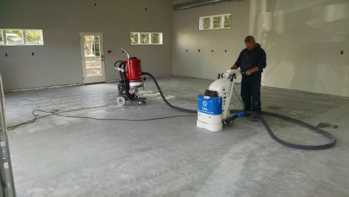 Prep for epoxy coating in Maine