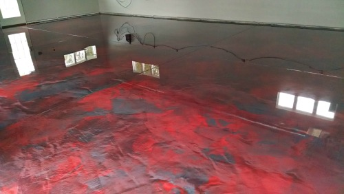 Reflector enhancer epoxy floor