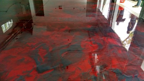 Reflector enhancer epoxy floor in Maine