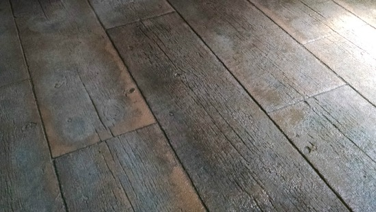 Stamped Concrete In Manchester Me 16 Barn Board Pattern