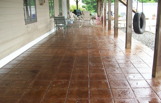 Stamped concrete with 12