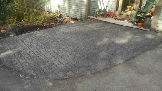 stamped concrete cobblestone pattern