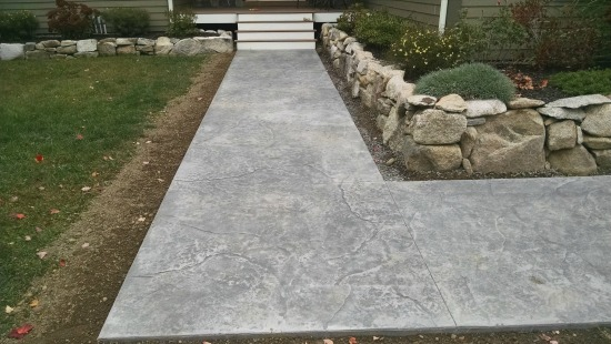 stamped concrete stone texture pattern in Maine