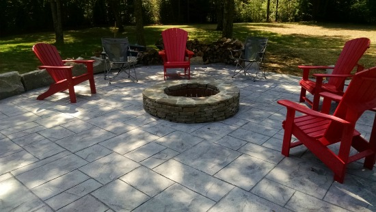 stamped concrete ashlar slate pattern