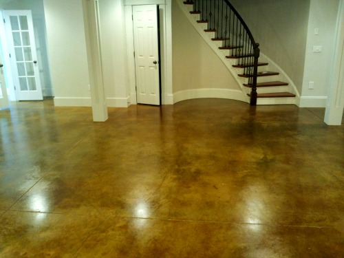 Concrete floor stain in Maine