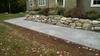 Stamped concrete walkway with Stone textured stamp