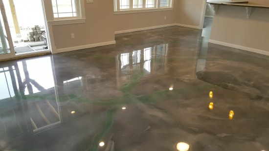 Reflector enhancer epoxy floor in Monmouth, Me.