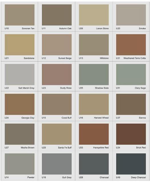 Integral concrete color chart