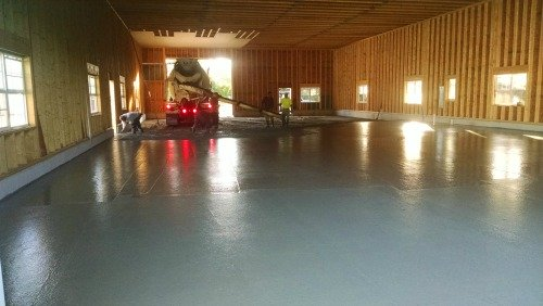 Concrete floor in Brunswick Me