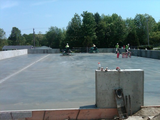 Commercial concrete floor in Maine