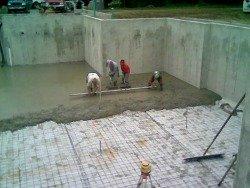 Maine concrete floor