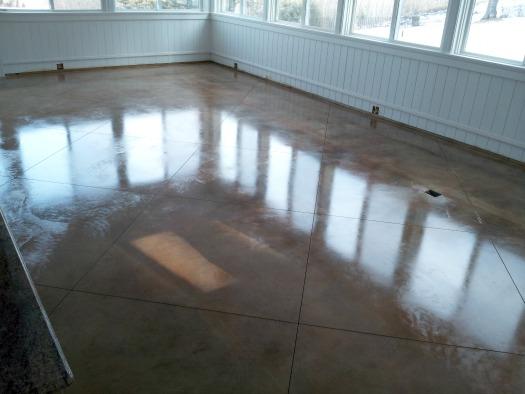 Concrete floor staining in Maine