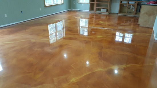 Reflector enhancer epoxy floor central Maine